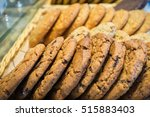 closeup of chocolate chip... | Shutterstock . vector #515883403