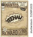 yeehaw. retro poster in style... | Shutterstock .eps vector #515891023