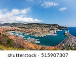 top view of port with yachts in ...   Shutterstock . vector #515907307