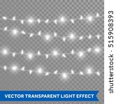 christmas bulb lights. vector... | Shutterstock .eps vector #515908393
