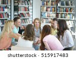 young smiling people indoors | Shutterstock . vector #515917483