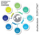 mind map slide template 8... | Shutterstock .eps vector #515917567