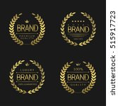 premium brand labels. golden... | Shutterstock .eps vector #515917723