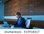 young businessman in a suit... | Shutterstock . vector #515918317