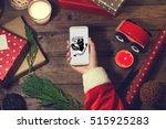 Santa Use Smart Phone Mock Up...