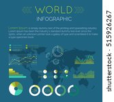 word infographic vector. color... | Shutterstock .eps vector #515926267
