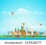 modern cityscape vector... | Shutterstock .eps vector #515928277