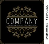 luxury logo template in vintage ... | Shutterstock .eps vector #515930827