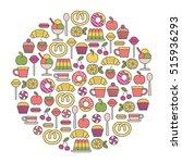 round design element with... | Shutterstock .eps vector #515936293