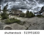 Small photo of abandoned factory / processing plant sulfur - Poland Tarnobrzeg