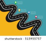 design template with pin... | Shutterstock .eps vector #515955757
