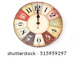 twelve o'clock on new year's... | Shutterstock . vector #515959297