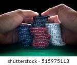 stack of poker chips and two... | Shutterstock . vector #515975113