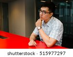 young men thinking a problem at ...   Shutterstock . vector #515977297