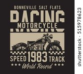 racing motorcycle typography  t ... | Shutterstock .eps vector #515978623