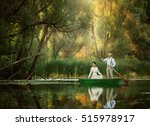 the bride and groom ride at... | Shutterstock . vector #515978917