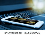 digital money   blockchain and... | Shutterstock . vector #515980927