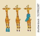 hand drawn illustration of... | Shutterstock .eps vector #515981287