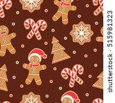 christmas seamless pattern.... | Shutterstock .eps vector #515981323