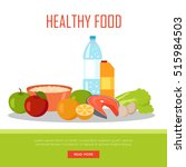 healthy food banner isolated on ... | Shutterstock .eps vector #515984503