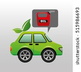 eco car oil canister icon... | Shutterstock .eps vector #515986693