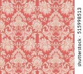 floral seamless damask...   Shutterstock . vector #515998513