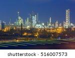 slovnaft refinery in bratislava ... | Shutterstock . vector #516007573