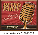 the poster in vintage style on... | Shutterstock .eps vector #516015097