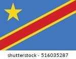 vector congo flag  congo flag... | Shutterstock .eps vector #516035287