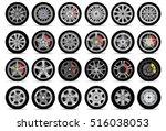car wheels set | Shutterstock .eps vector #516038053