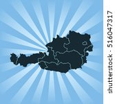 map of austria | Shutterstock .eps vector #516047317