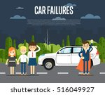 car failures concept with... | Shutterstock .eps vector #516049927