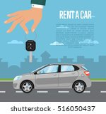 rent a car concept with... | Shutterstock .eps vector #516050437