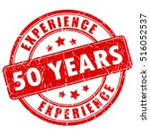 50 year experience rubber stamp ... | Shutterstock .eps vector #516052537