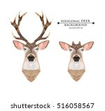 polygonal deer with horns and...   Shutterstock .eps vector #516058567