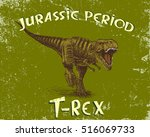 angry tyrannosaur rex.grunge... | Shutterstock .eps vector #516069733