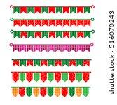 ribbon new year vector | Shutterstock .eps vector #516070243