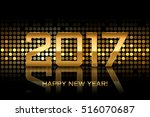 vector   happy new year 2017 | Shutterstock .eps vector #516070687