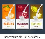 milkshake concept with milk... | Shutterstock .eps vector #516095917