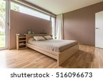 big bed in modern and spacious... | Shutterstock . vector #516096673