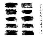 set of brush strokes | Shutterstock .eps vector #516107677