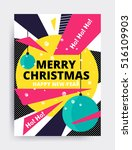 merry christmas new year design ... | Shutterstock .eps vector #516109903