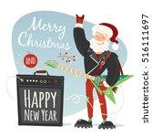 vector rock santa illustration | Shutterstock .eps vector #516111697