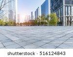 empty floor with modern... | Shutterstock . vector #516124843