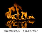 fire flames on black background | Shutterstock . vector #516127507