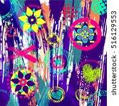 geometric pattern background ... | Shutterstock .eps vector #516129553