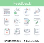 hand drawn line style icon set  ... | Shutterstock .eps vector #516130237