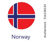round norway flag vector icon... | Shutterstock .eps vector #516138133