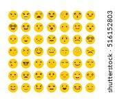 set of emoticons. big...   Shutterstock .eps vector #516152803