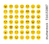 set of emoticons. avatars. flat ... | Shutterstock .eps vector #516152887